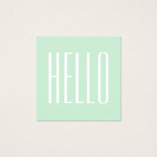 Pastellfärgad minimalist modern djärv hejvisitkort fyrkantigt visitkort