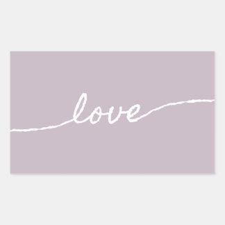 Pastellfärgad Minimalist typografisk design för Rektangulärt Klistermärke
