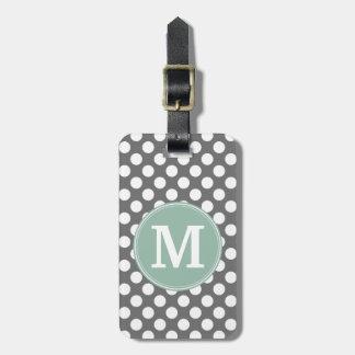 Pastellfärgad Mint & grå polka dots med den Bagagebricka