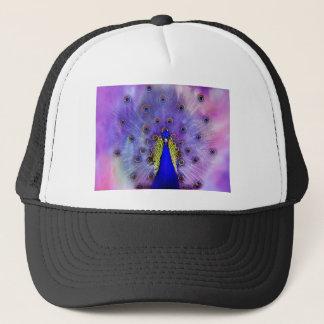 Pastellfärgad påfågelblåttfågel truckerkeps