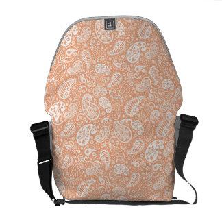 Pastellfärgad persika Paisley Kurir Väskor