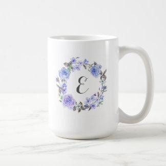 Pastellfärgad purpurfärgad Monogram för Kaffemugg