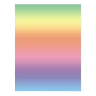 Pastellfärgad regnbåge vykort