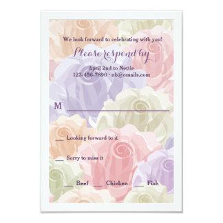 Pastellfärgad roOSA kort 8,9 X 12,7 Cm Inbjudningskort