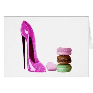 Pastellfärgad rosa stilett och fransk OBS kort
