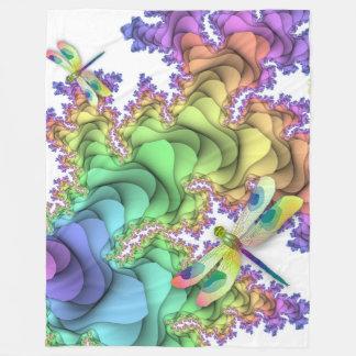Pastellfärgad sländaullfilt fleecefilt