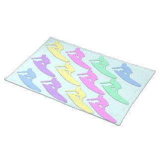 Pastellfärgad surfaremönsterbordstablett bordstablett