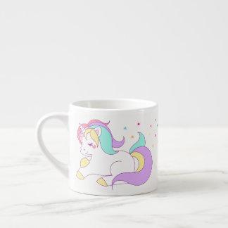 Pastellfärgad Unicornmugg Espressomugg