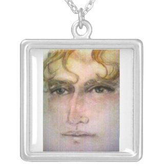 pastellfärgade daniel silverpläterat halsband