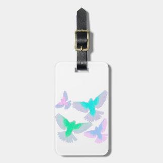 Pastellfärgade fåglar bagagebricka