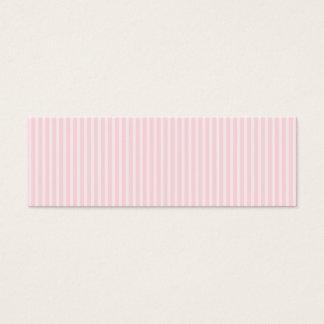 Pastellfärgade rosa godisStripes. Litet Visitkort