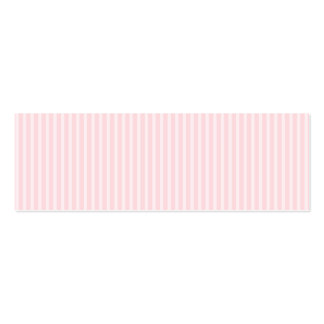 Pastellfärgade rosa godisStripes. Set Av Smala Visitkort