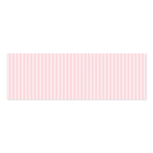 Pastellfärgade rosa godisStripes. Visitkort