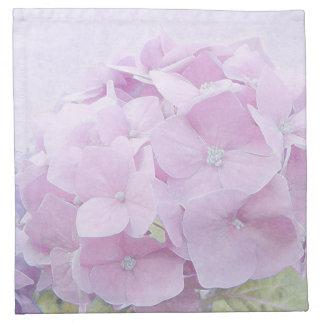 Pastellfärgade vanlig hortensiablommor tygservett