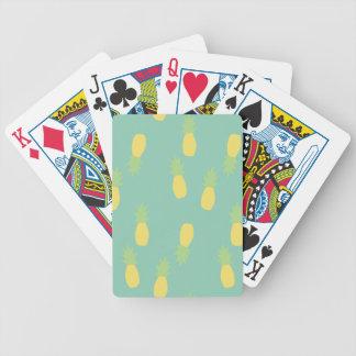 Pastellfärgat ananasmönster spelkort