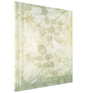 Pastellfärgat blom- bröllop för vintage canvastryck