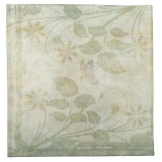 Pastellfärgat blom- bröllop för vintage tygservett