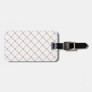 Pastellfärgat diamantmönster för vår bagagebricka