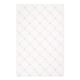 Pastellfärgat diamantmönster för vår brevpapper