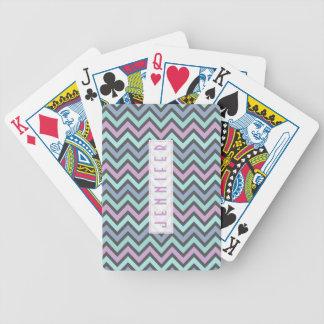 Pastellfärgat färgrikt Retro sparremönster - Monog Spelkort