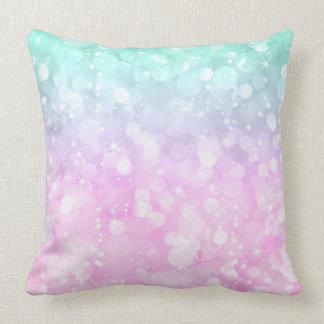 Pastellfärgat glam bokehglitter för rosor och kudde