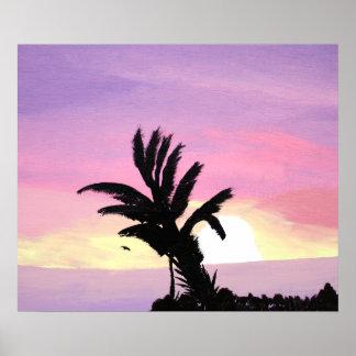 Pastellfärgat himmelaffischtryck poster