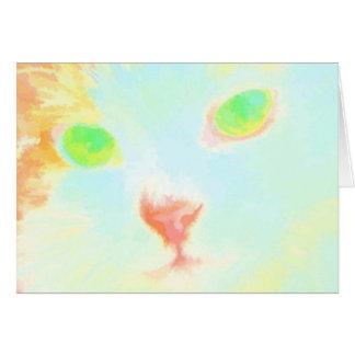 Pastellfärgat kort för hälsning för Maine Coonkatt