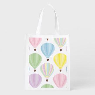 Pastellfärgat mönster för luftballong återvinningsbar matkasse