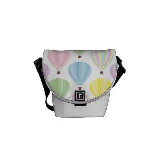 Pastellfärgat mönster för luftballong messenger bag