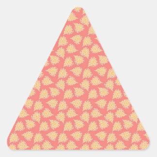 Pastellfärgat mönster för romantisk blom- hjärta triangelformat klistermärke