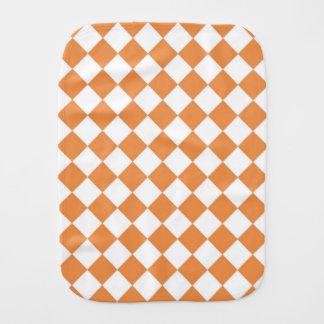 Pastellfärgat orange diamantschackbrädemönster bebistrasa
