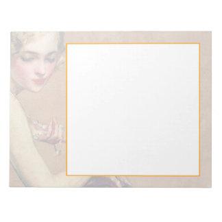 Pastellfärgat porträtt anteckningsblock