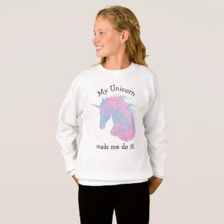 Pastellfärgat roligt Unicorncitationstecken för Tee Shirt