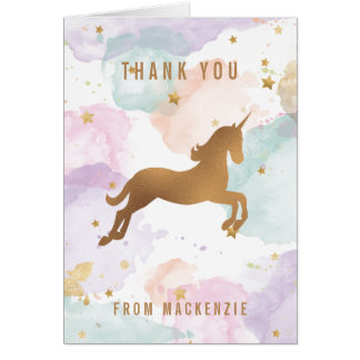Pastellfärgat Unicorntack OBS Kort