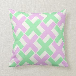 Pastellgrönt och lavendel Xs Kudde