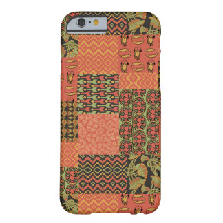 Patchwork för Faux för röd gröntsvart egyptisk Barely There iPhone 6 Skal
