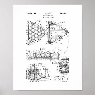 Patent för Billiardbollkugge Poster