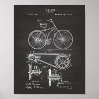Patenterad konst för cykel 1890 - svart tavla poster