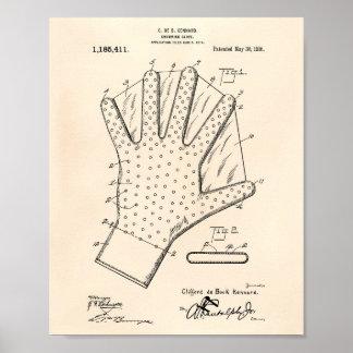 Patenterad konst gammala Peper för simninghandske Poster