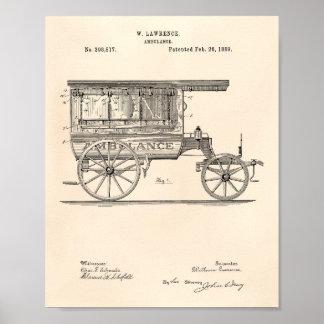 Patenterad konst gammala Peper för vintageambulans Poster