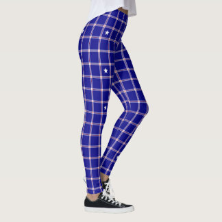 Patriot pläd leggings