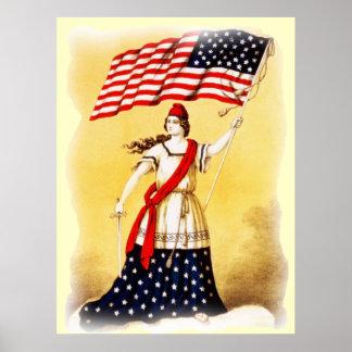 """Patriotisk affisch """"för någonsin vaksam"""" vintage"""