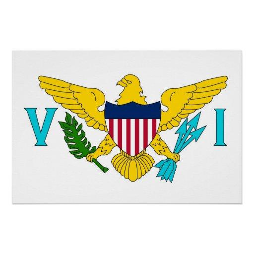 Patriotisk affisch med flagga av U.S. Virgin Islan