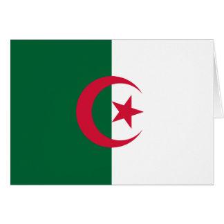 Patriotisk algerisk flagga hälsningskort