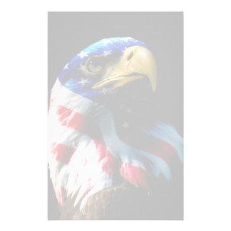 Patriotisk amerikanörn brevpapper