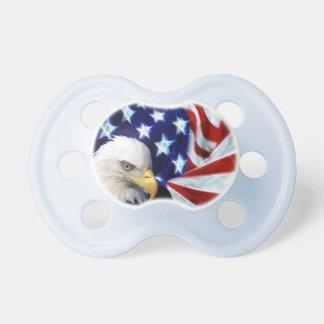 Patriotisk amerikanska flaggan & örn napp