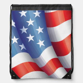 Patriotisk amerikanska flagganbaksida - packe gympapåse