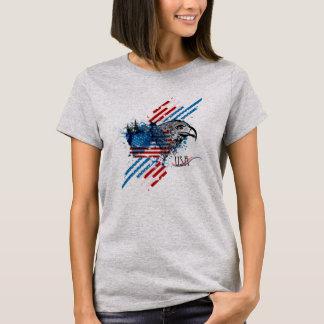 Patriotisk amerikanska flagganörnT-tröja Tröja