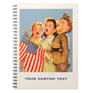 Patriotisk anteckningsbok för illustration för