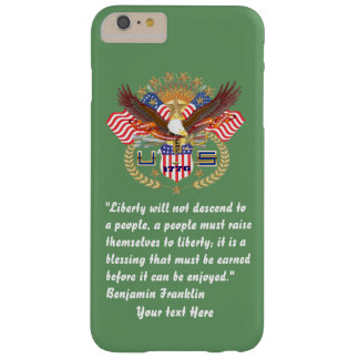 Patriotisk armé för frihetfredgrönt barely there iPhone 6 plus fodral